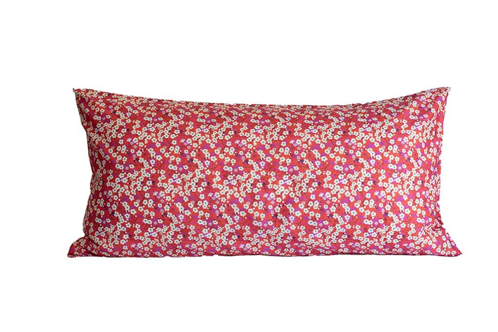 blossom kopfkissen 80x40 red-pink